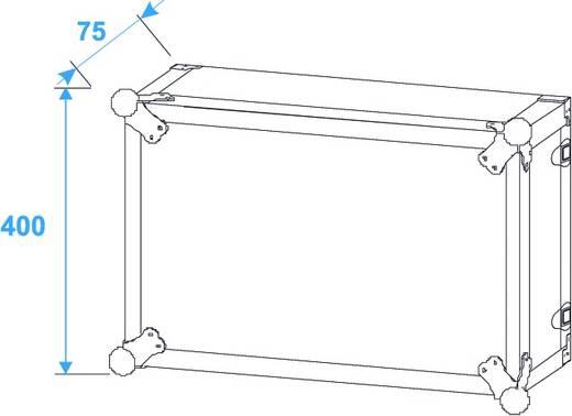 19 inch rack 8 HE Hout Incl