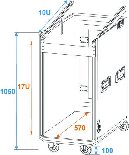 Flightcase 30110000 (l x b x h) 560 x 640 x 1050 mm