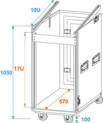 Roadinger Spezial Case Flightcase (l x b x h) 560 x 640 x 1050 mm