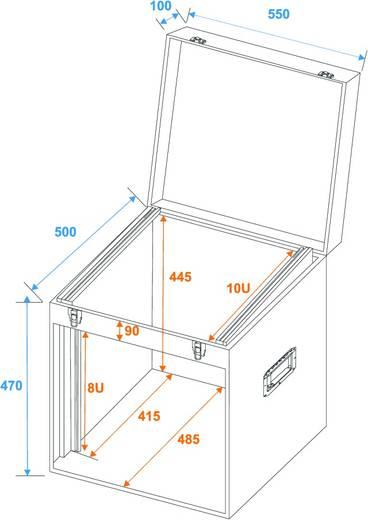 Flightcase 30112030 (l x b x h) 530 x 570 x 590 mm