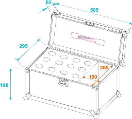 Microfoon flightcase (l x b x h) 340 x 520 x 330 mm
