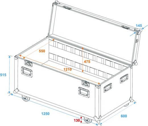 Roadinger Universal Tourcase Flightcase (l x b x h) 620 x 1260 x 660 mm