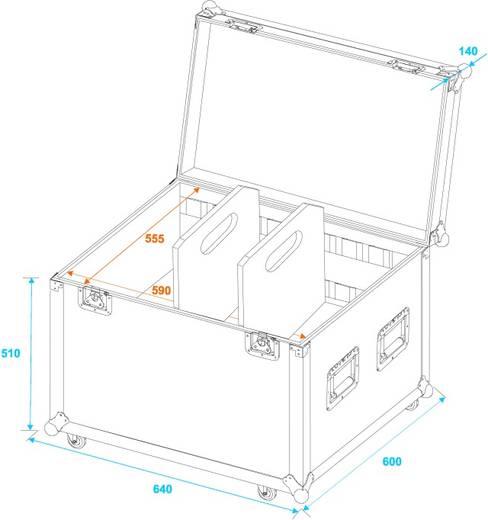 Flightcase 30126415 (l x b x h) 620 x 650 x 650 mm