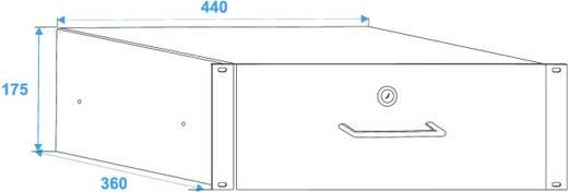19 inch rackschuiflade 4 HE Omnitronic Alum