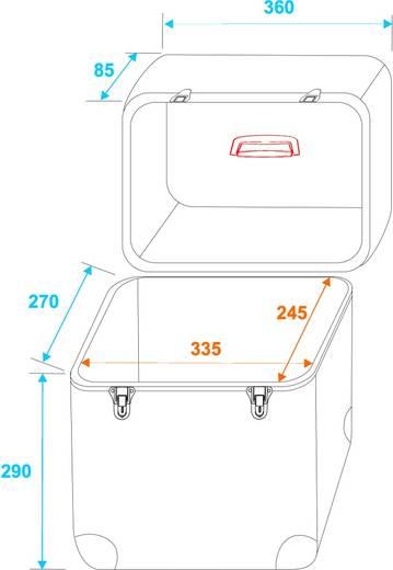 Flightcase 30110029 (l x b x h) 360 x 360 x 260 mm