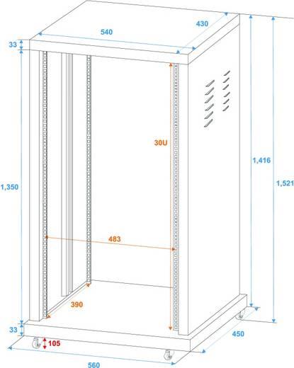 19 inch rack 30 HE Omnitronic Staal