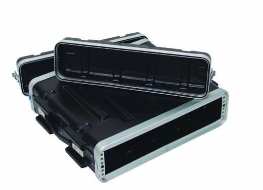 Plastic rack KR-19,2HE, DD, zwart