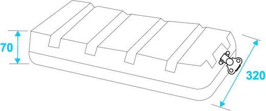 Plastic rack KR-19, 6U, DD, zwart