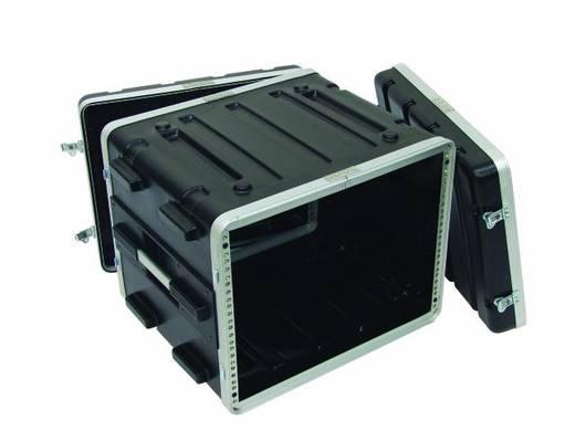 Plastic rack KR-19, 8U, DD, zwart