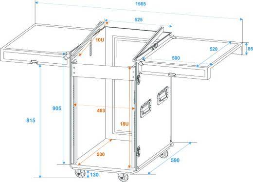 Spezial Kombi-Case, 18 HE (l x b x h) 560 x 1220 x 650 mm