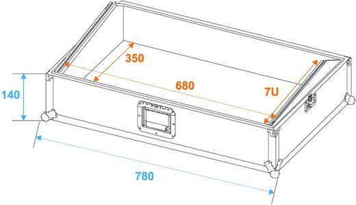 MCB-27 Flightcase (l x b x h) 250 x 800 x 420 mm