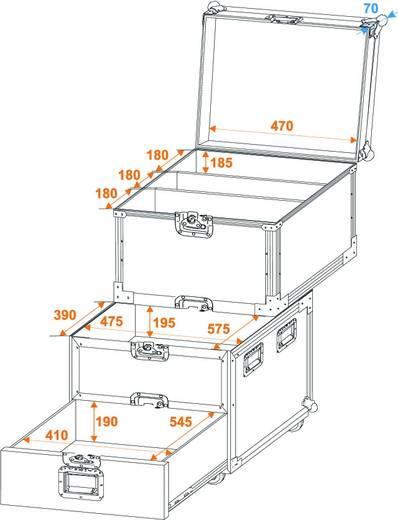 Flightcase 30126430 (l x b x h) 830 x 640 x 920 mm
