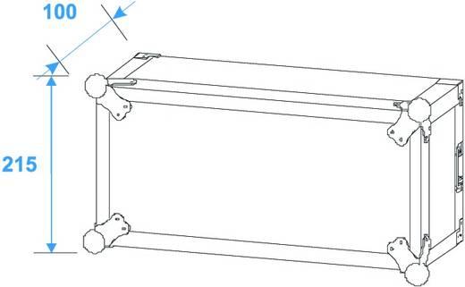 19 inch rack 4 HE Hout Incl