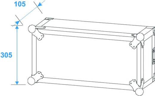 19 inch rack 6 HE Hout Incl