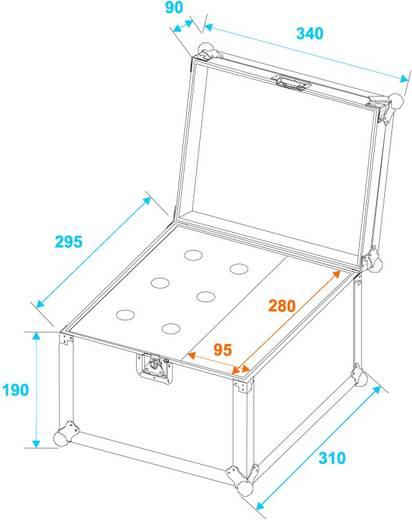 Microfoon flightcase (l x b x h) 310 x 350 x 310 mm