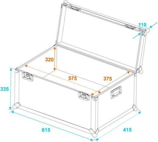 Flightcase 30126750 (l x b x h) 425 x 625 x 455 mm