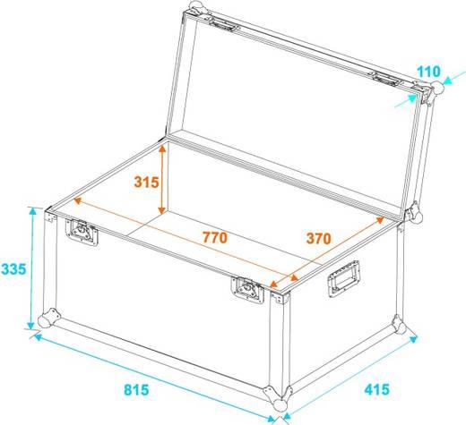 Flightcase 30126755 (l x b x h) 430 x 820 x 460 mm