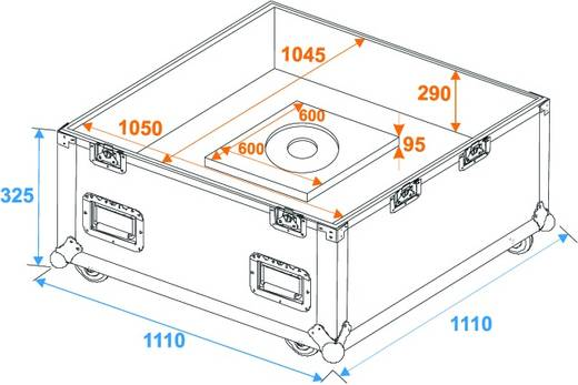 Flightcase Transportcase 100cm (l x b x h) 1100 x 1100 x 1