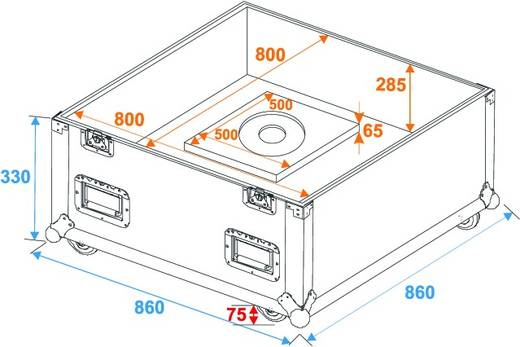 Flightcase 31000432 (l x b x h) 872 x 872 x 1057 mm