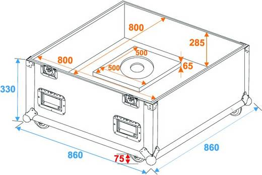 Flightcase Flightcase Spiegelkugel 75cm (l x b x h) 872 x