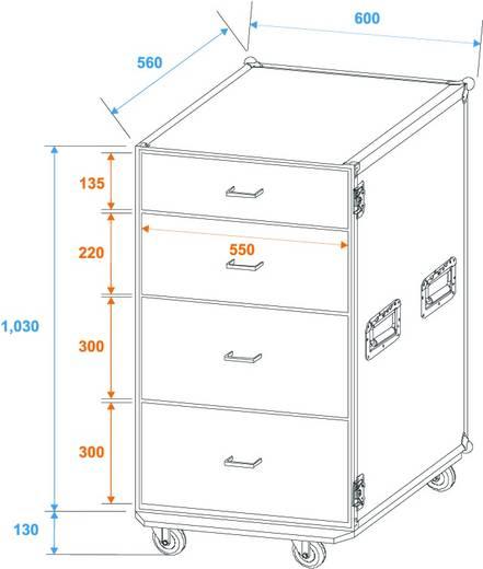 Flightcase 30126432 (b x h) 600 mm x 1150 mm