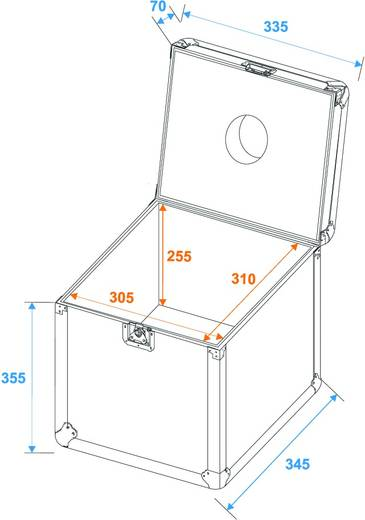 Flightcase 31000429 (l x b x h) 350 x 365 x 435 mm