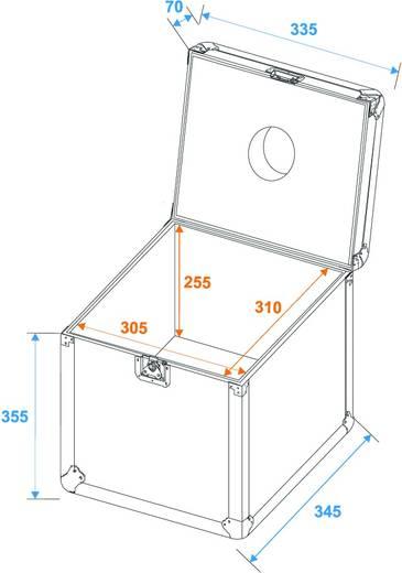 Flightcase Transportcase Spielekugel 30cm (l x b x h) 350