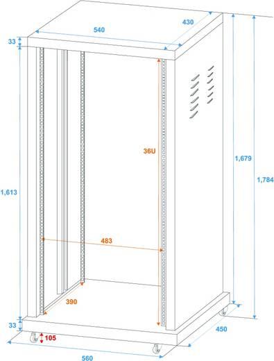 19 inch rack 36 HE Omnitronic SR-19 Staal<br