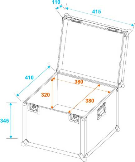Flightcase 30126708 (l x b x h) 435 x 435 x 460 mm