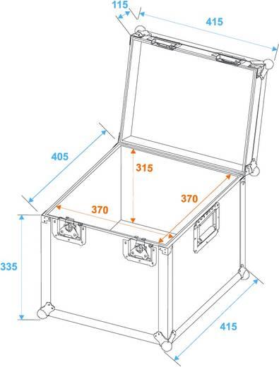 Flightcase Roadinger Universal Case (l x b x h) 435 x 435