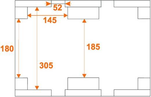 Flightcase 31000122 (l x b x h) 422 x 562 x 502 mm