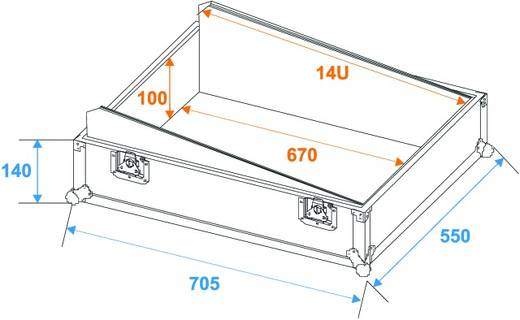 Roadinger MCB-19 Flightcase (l x b x h) 250 x 570 x 730 mm