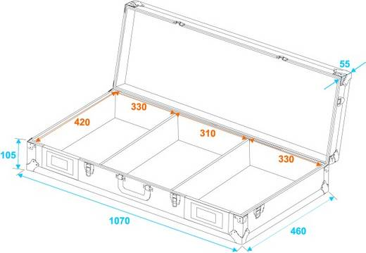 Roadinger DIGI M-12 Flightcase (l x b x h) 170 x 1100 x 500 mm