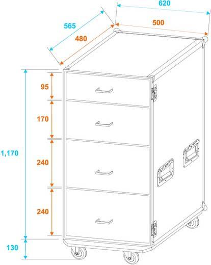 Roadinger FD-1 Flightcase (l x b x h) 680 x 640 x 1190 mm