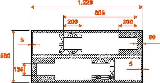 Flightcase 31998007 (l x b x h) 630 x 1260 x 800 mm