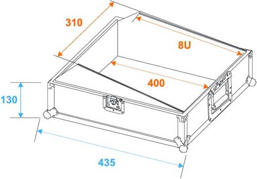 Flightcase 30111516 (l x b x h) 440 x 380 x 225 mm