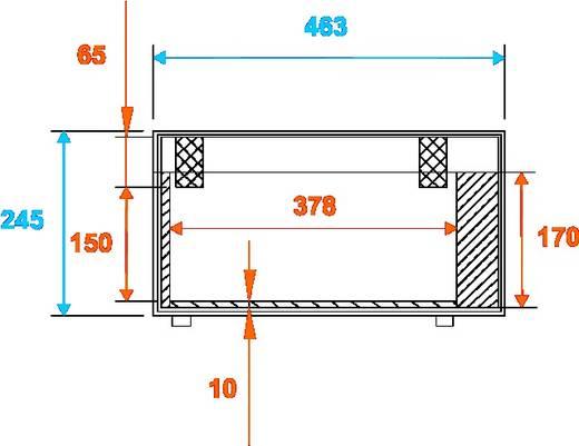 Flightcase Roadinger TSL-100/200 (l x b x h) 275 x 503 x 2