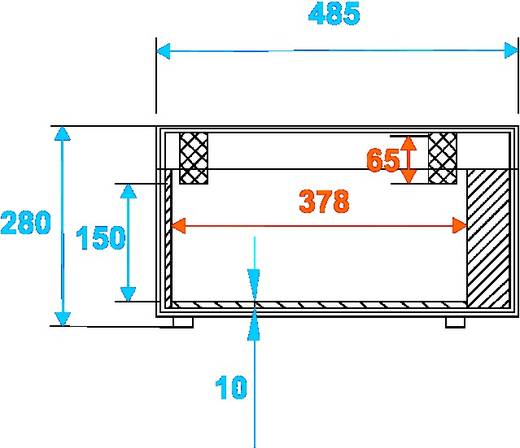 Flightcase Roadinger TSL-100/TSL-200 (l x b x h) 290 x 500