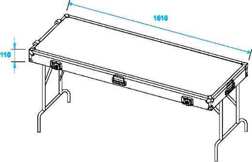 Roadinger Case Ausführung Flightcase (l x b x h) 650 x 1650 x 250 mm