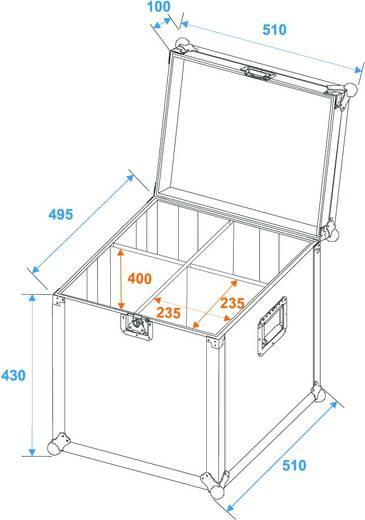 Flightcase Roadinger PAR-64 Spot (l x b x h) 480 x 480 x 4