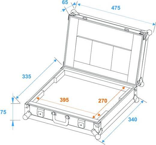 Roadinger Laptopcase LC-17 Flightcase (l x b x h) 150 x 495 x 385 mm