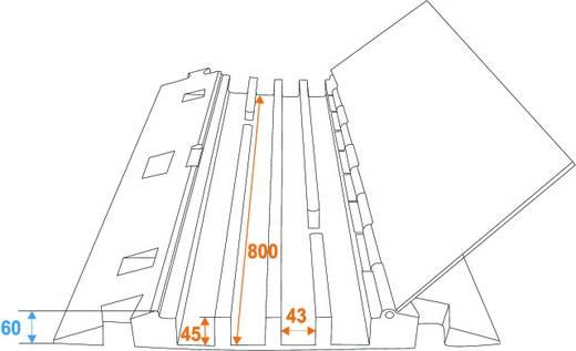Eurolite 4 Kanäle 800mm x 550mm Kabelbrug Zwart-groen