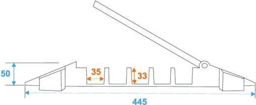 Eurolite 5 Kanäle 800mm x 450mm Kabelbrug Zwart/oranje