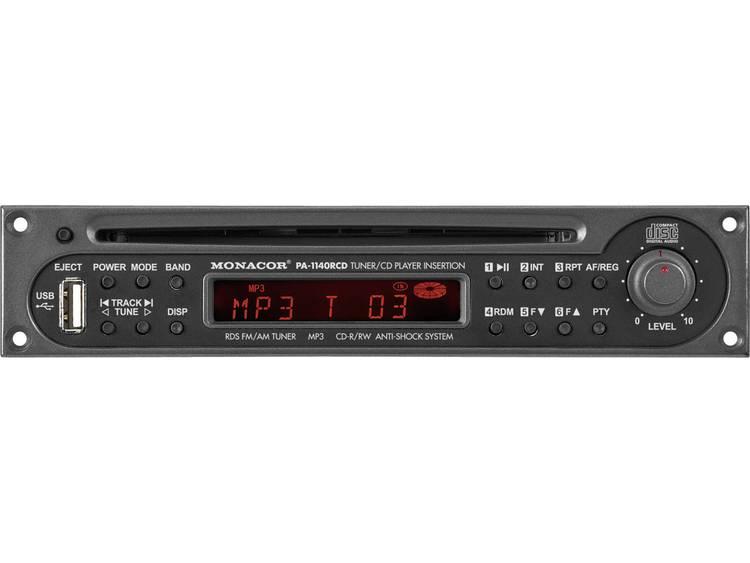 Monacor PA-1140RCD RDS tuner-CD speler