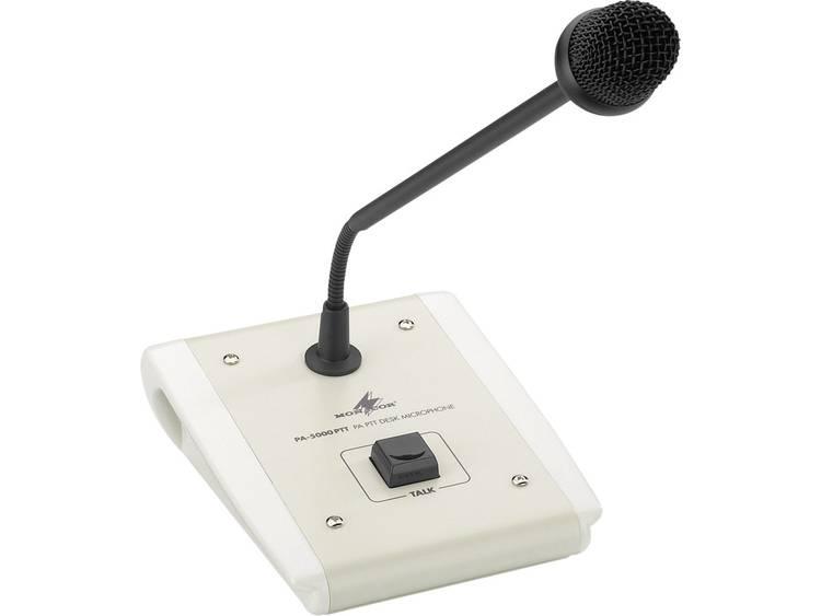 Monacor PA-5000PTT Zwanenhals Spraakmicrofoon Kabelgebonden