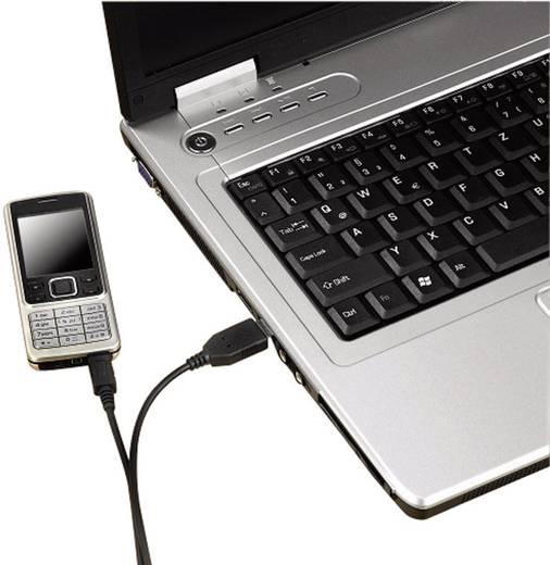 Hama USB 2.0 Aansluitkabel [1x USB 2.0 stekker A - 1x USB 2.0 stekker micro-B] 0.60 m Zwart