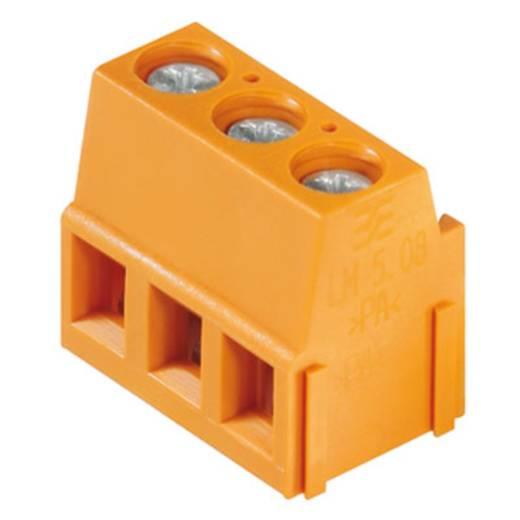 Klemschroefblok 2.50 mm² Aantal polen 3 LM 5.00/03/90 3.5SN GY BX Weidmüller Grijs 500 stuks