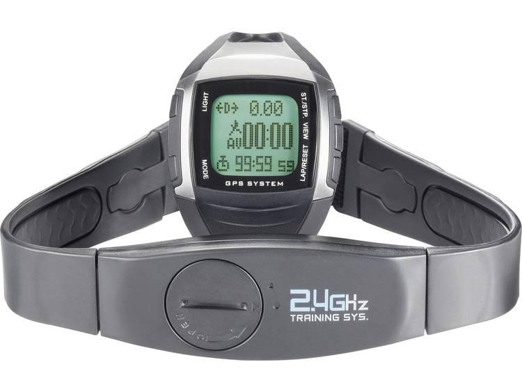 Multi NAV-3 GPS-horloge met borstband Zwart-zilver