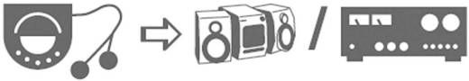 SpeaKa Professional Cinch / Jackplug Audio Kabel [2x Cinch-stekker - 1x Jackplug male 3.5 mm] 10 m Zwart