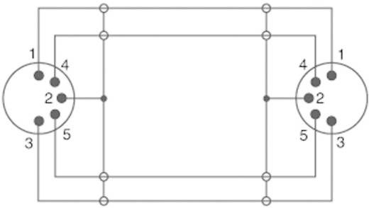 SpeaKa Professional DIN-aansluiting Audio Kabel [1x Diodestekker 5-polig (DIN) - 1x Diodestekker 5-polig (DIN)] 5 m Zwar